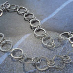 Heavy gauge sterling silver chain necklace