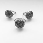 Cast sterling silver rings
